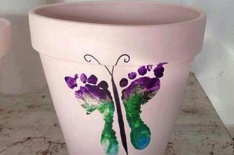 Foot print flower pots