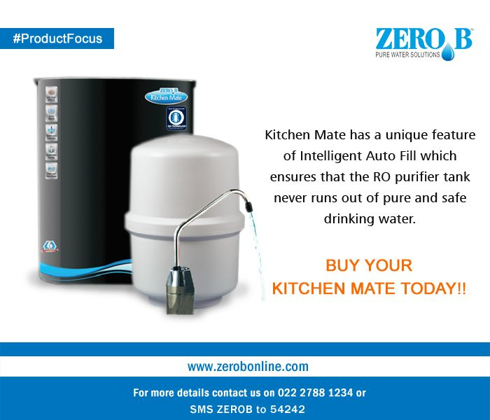Kitchen Mate has a unique feature of Intelligent Auto Fill which ensures that the RO purifier tank never runs out of pure and safe drinking water.