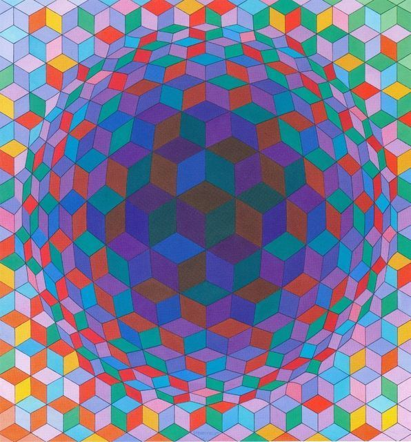 Victor Vasarely, Cheyt-E (1970), via Artsy.net