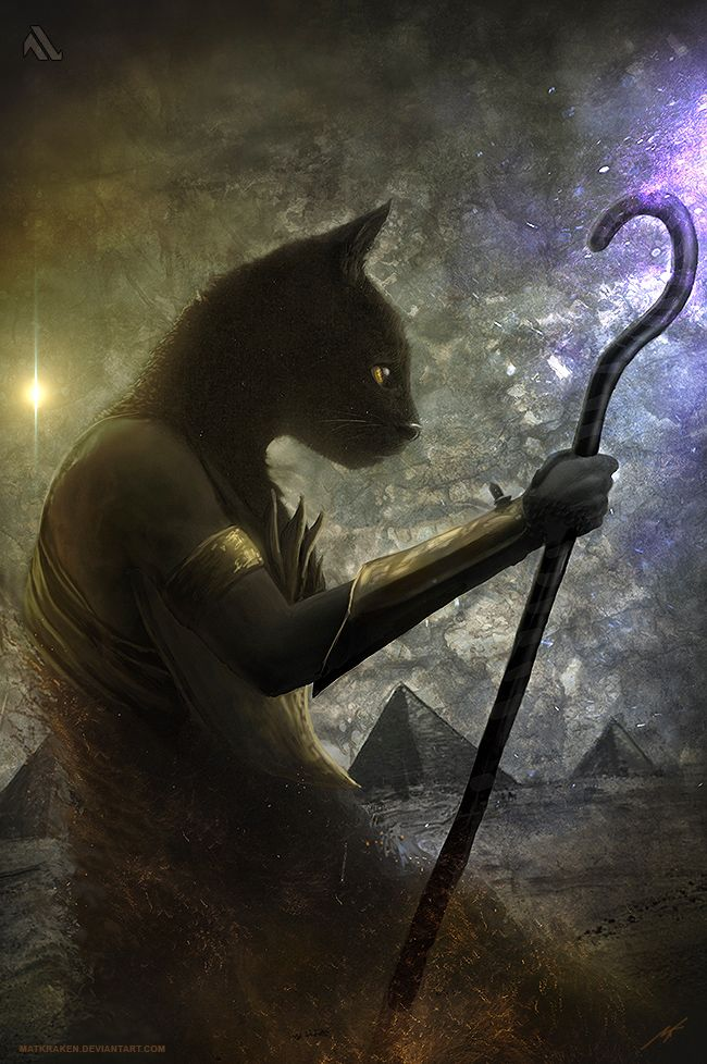 BASTET (CAT GODDESS) by MATIAS S. GONZALEZ aka MATKRAKEN