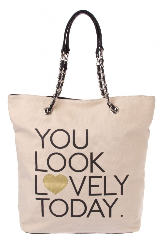 $29.95 You Look Lovely Today Canvas Tote @ www.colettehayman.com.au
