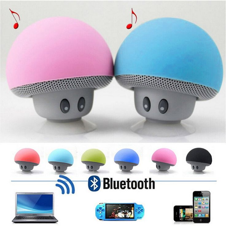 FSTONG Wireless Mini Bluetooth Speaker Portable Hi-tec Mushroom Subwoofer Speaker with Hands-free Talk & Phone Column SZBA002-1