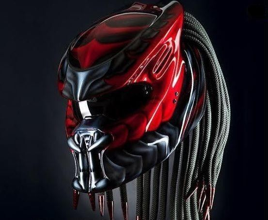 THE PREDATOR HELMET CUSTOM STREET FIGHTER - RED #CELLOSPREDATORCUSTOMHELMET…