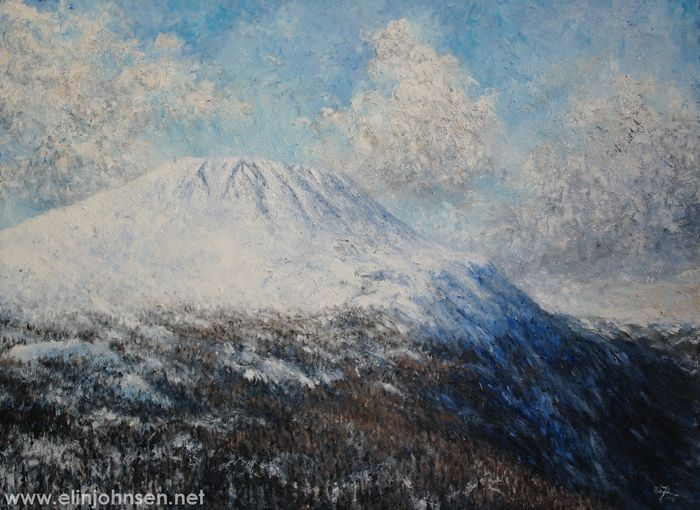 Gaustatoppen. Oil on canvas 2017. 60x80cm. #gaustatoppen #telemark #norway #landscape