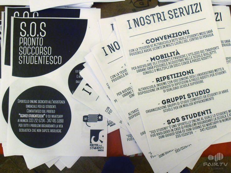 17 novembre. Giornata internazionale degli studenti. Perugia, Umbria, Italy. I servizi e il mutualismo