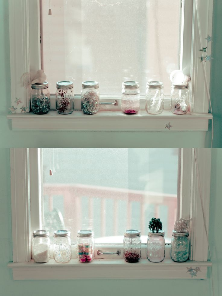 BottlesDecor, Ideas, Windows Sill, Beach Houses, Cupboards, Herbs Gardens, Bottle, Apartments, Mason Jars
