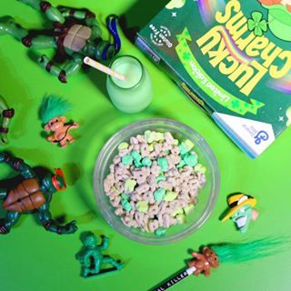 Come to #cerealkiller on St Patrick's day and line your stomach with limited edition green clover #luckycharms served with real leprechaun milk (not real leprechaun milk) and see our little leprechauns working hard all day!
