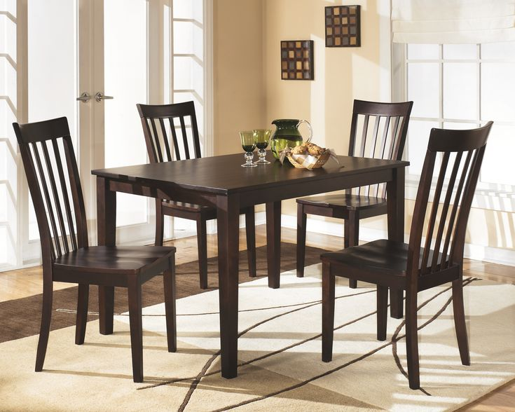 Hyland Dining Room Table and Chairs (Set of 5), Reddish ...