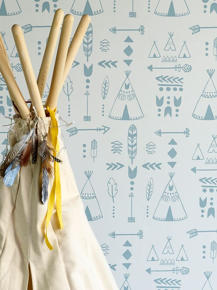 Teepees Wallpaper - Various Colours