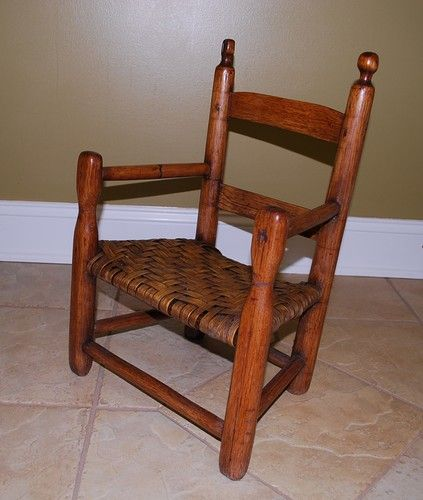20in high x 13.5in wide antique Shaker's child's chair - 454 Best Primitive Little Chairs Images On Pinterest Antique