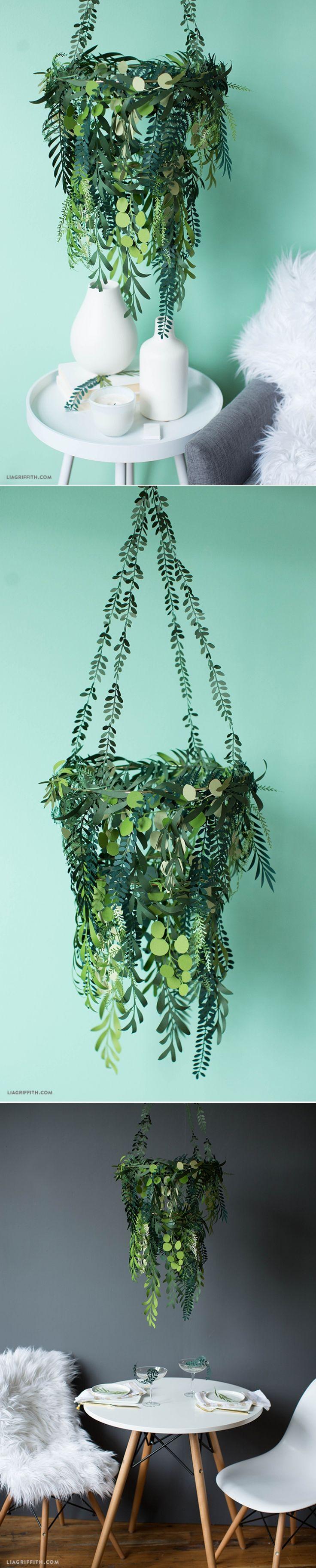 Paper greenery, also beautiful #Cricut