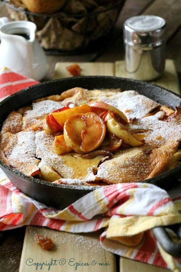 Dutch Baby Pancake aux pommes caramélisées { Epices & moi }