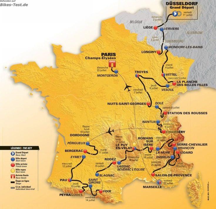 Tour de France 2017 Etappen
