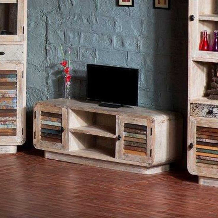 Perfect TV Board im Loft Style massiv Jetzt bestellen unter https moebel ladendirekt de wohnzimmer tv hifi moebel tv lowboards uid udbff e dad