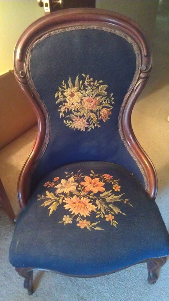 Vintage Needlepoint Chair This one is very similar to one my grandmother  used to own, - 21 Best Needlepoint Images On Pinterest Embroidery, Needlepoint