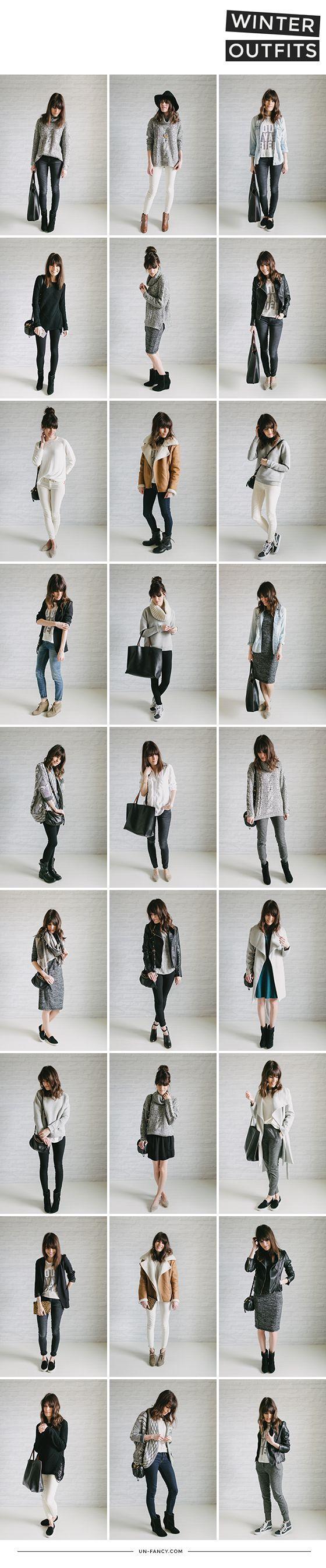 Un-Fancy's Winter Outfits | Capsule Wardrobe