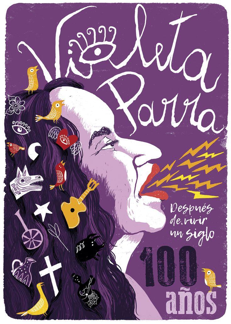 Afiche Violeta Parra