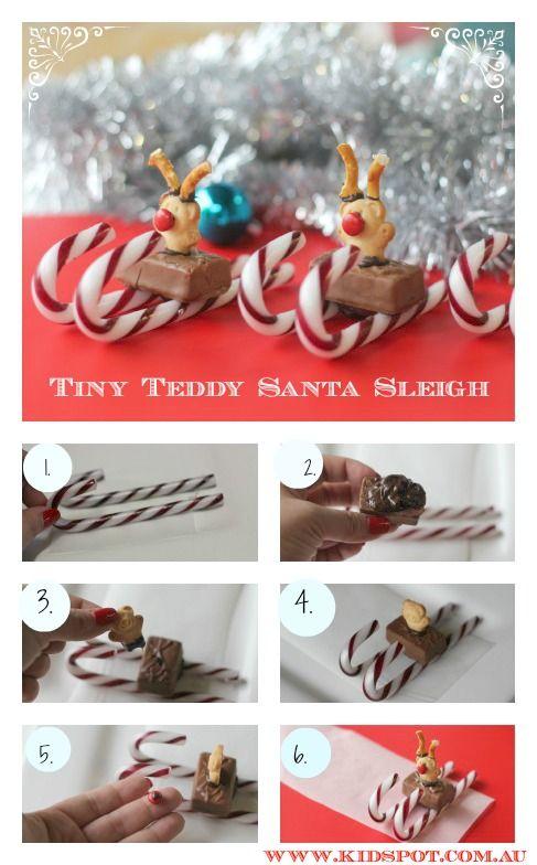 Tiny Teddy Santa Sleigh
