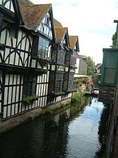 A branch of the Great Stour in Canterbury city centre