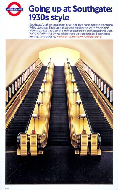 TFL Southgate escalators