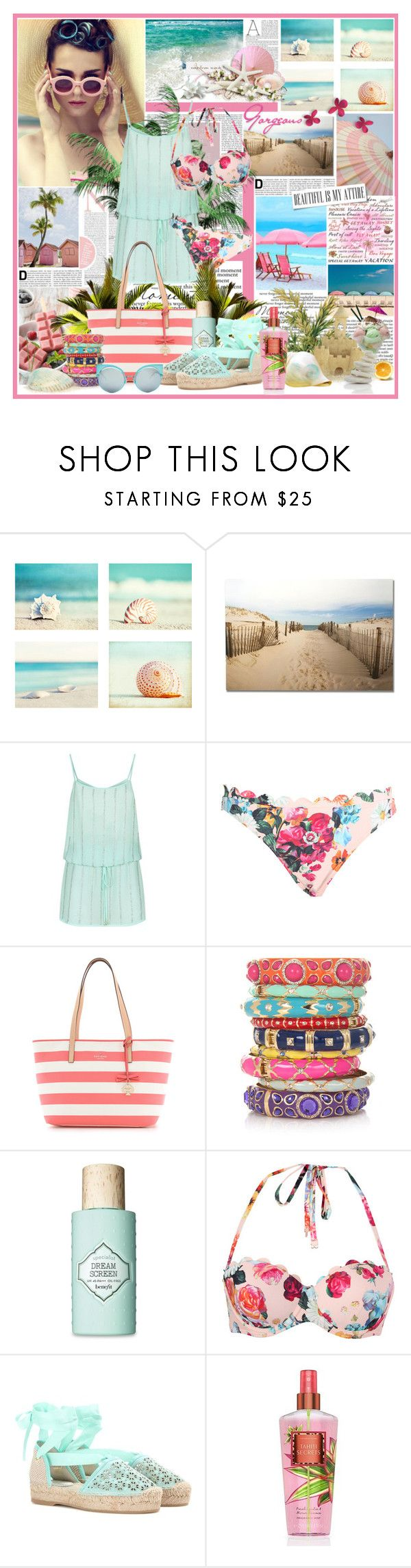 """*Take me to the Ocean*"" by lady231 ❤ liked on Polyvore featuring Nicole, Frankford, Graham & Brown, ELIZABETH HURLEY beach, Ted Baker, Kate Spade, Sequin, Benefit, Costa and Oscar de la Renta"