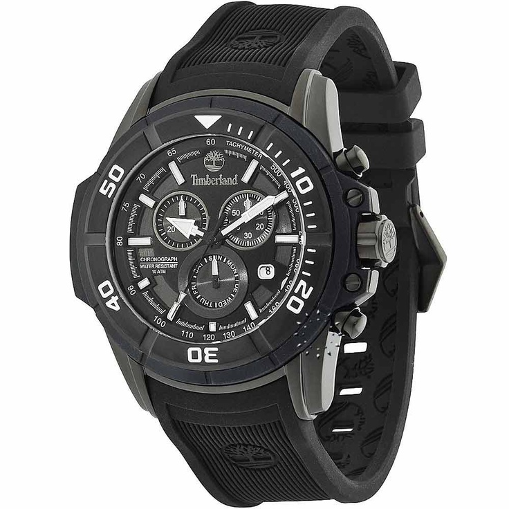 TIMBERLAND Franconia Chrono Black Rubber Strap  190€  http://www.oroloi.gr/product_info.php?products_id=30479