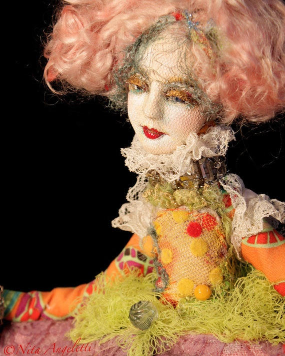 art doll sculpted face by nita angeletti