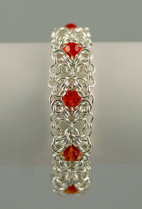 Signature Wearable Art Chain Maille Bracelet on Etsy, $225.00