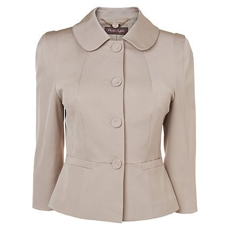 Buy Phase Eight Darcy Jacket, Black/Oyster Online at johnlewis.com