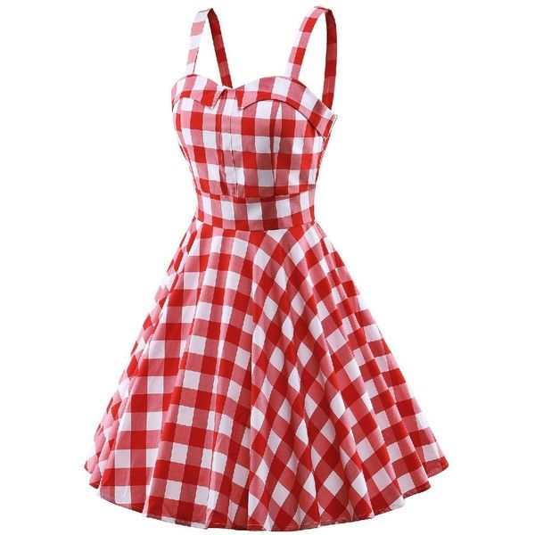 iLover Classy Vintage Audrey Hepburn Style 1950's Rockabilly Swing... ($20) ❤ liked on Polyvore featuring dresses, vintage special occasion dresses, red evening dresses, red rockabilly dress, red dress and cocktail dresses