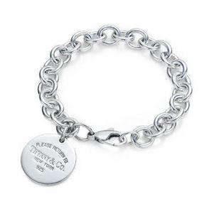 Return to Tiffany Round Tag charm Bracelet