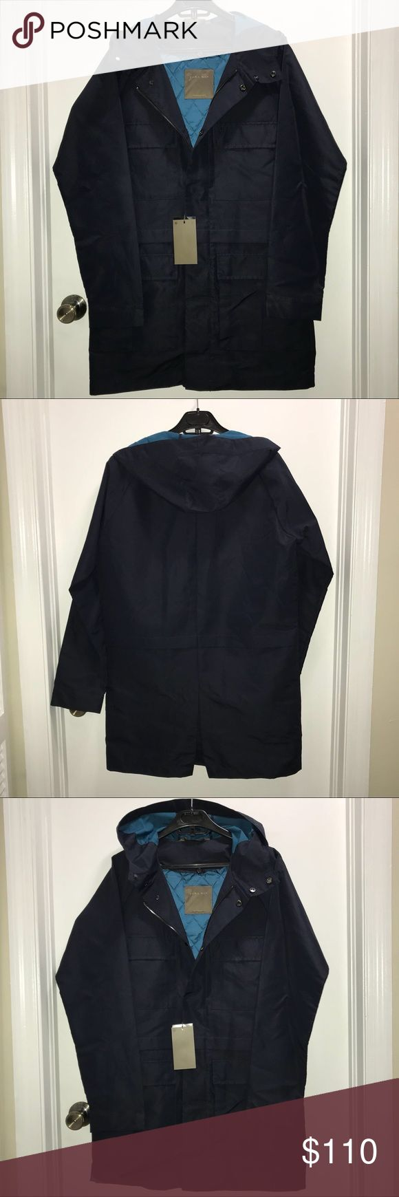 Zara Men's Raincoat Parka Zara Man  Fashion raincoat parka jacket poncho trench   Water repellant with hood and removable quilted lining  Size Medium  NWT   Check out my other items ! I ship same or next day📬 Thanks for looking ! Zara Jackets & Coats Raincoats