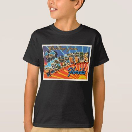 St Petersburg Florida FL Vintage Travel Souvenir T-Shirt - tap, personalize, buy right now!