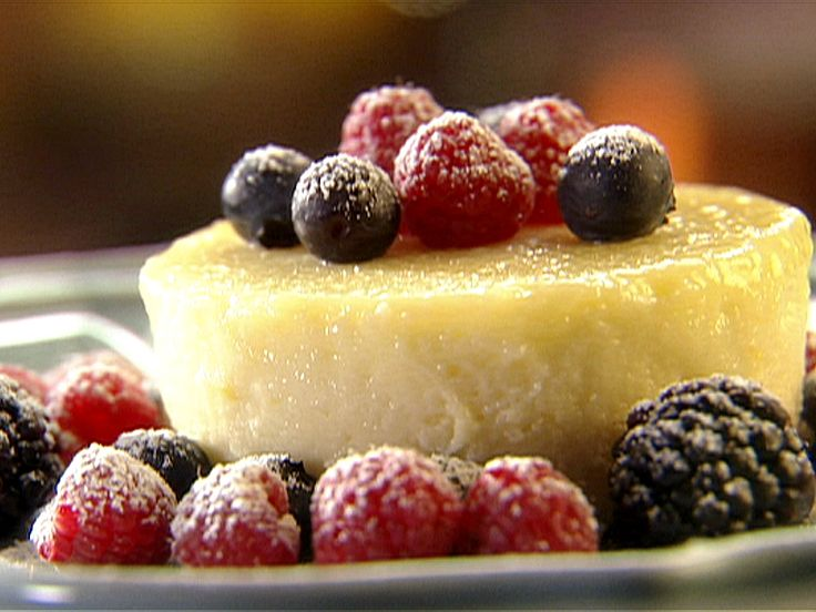 Lemon Pudding Cake with Fresh Mixed Berries...love, love, love lemon pudding cake!