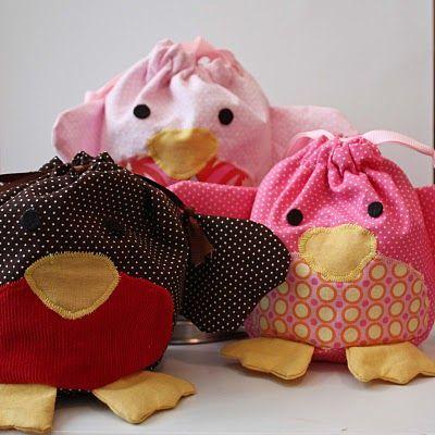 Bird bags - so easy to sew!!