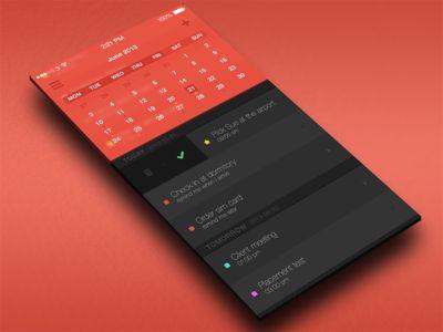 Flat Todo calendar  #ios #app #design #iphone