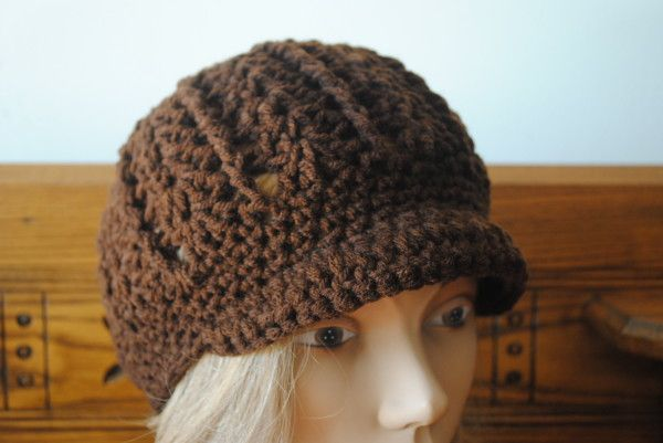 Free Crochet Pattern Beanie With Brim : Free Crochet Newsboy Hat Pattern with Optional Brim Mary s ...