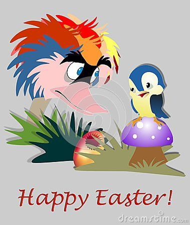 Funny Easter Card - Download From Over 40 Million High Quality Stock Photos, Images, Vectors. Sign up for FREE today. Image: 65631862