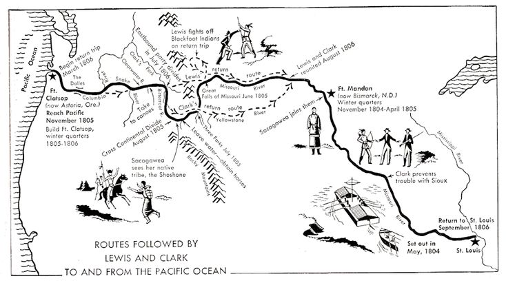 lewis_clark_routes.png Photo:  This Photo was uploaded by camkrst. Find other lewis_clark_routes.png pictures and photos or upload your own with Photobuc...