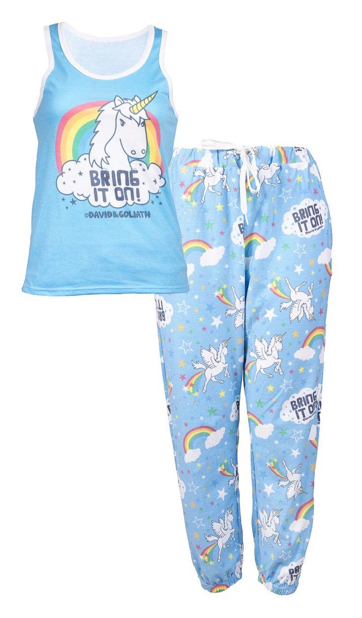 David & Goliath Unicorn Womens Pyjama Set - Bring It On