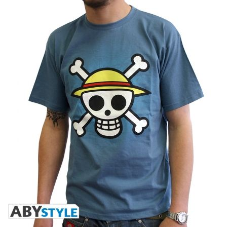 ONE PIECE T-shirt One Piece Skull with map blue