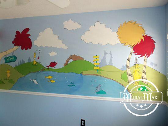 25 best ideas about nursery wall murals on pinterest for Dr seuss wall mural decals