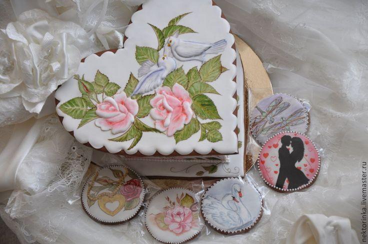 Купить Пряничная шкатулка с пряничками - разноцветный, пряничная шкатулка, имбирный пряник, мёд, имбирь, анис