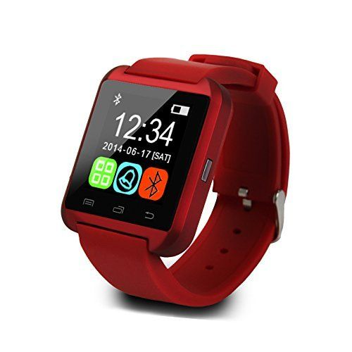 Bluetooth Android Smart Mobile Phone U8 Wrist Watch for iPhone 6 / 6 Plus / 5S Samsung S6 / Note 4 HTC Android Phone Smartphones Android Wear (Red). Waterproof bluetooth watc. This is a new Bluetooth Smart Watch which is compatible with all Bluetooth V2.0 or above enabled smartphones, tablets and PCs (support Android 2.3 or above),such as iPhone 4, 4S, 5, 5S, Sumsung S3, S4, Note 2, Note 3, Note 4 etc. Handsfree Speaker Phone.Answer or Dial calls from your wrist.Ringing reminder when you...
