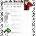 A wordsearch to review French Remembrance Day Vocabulary.   Both colour and Blackline copies are included.  Answers Included ...
