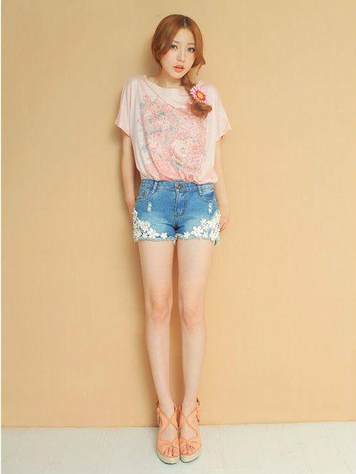 Damen T-Shirt mit Rosen Print Blogger Shirt Shabby Festival Viktorianischer Stil
