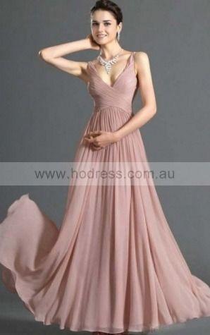 Chiffon V-neck Empire Princess Floor-length Bridesmaid Dresses 0270212