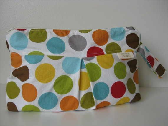 Colourful dot Diaper Clutch by LittleFawnDesigns on Etsy, $24.00  'I heart #littlefawndesigns'