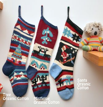 Hand Knitted Christmas Stocking