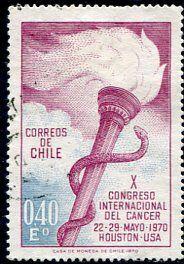 Francobolli - Lotta contro il cancro - Fight against cancer Cile 1970